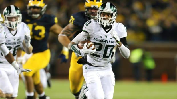 Jalen Watts-Jackson discusses blocked punt return against Michigan -- IMAGE