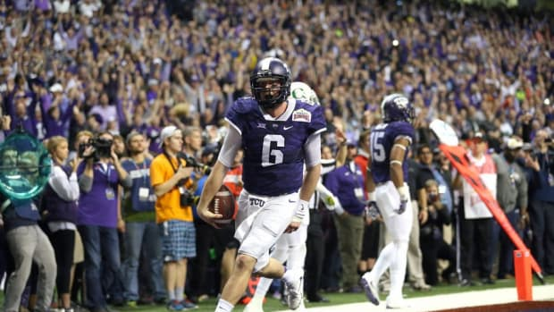 The bright side of hope: A prophetic hashtag becomes a rallying cry during TCU's stunning Alamo Bowl win
