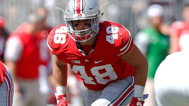 A childhood fan of Notre Dame, Ohio State linebacker Joe Burger walked on for the Buckeyes and became a captain