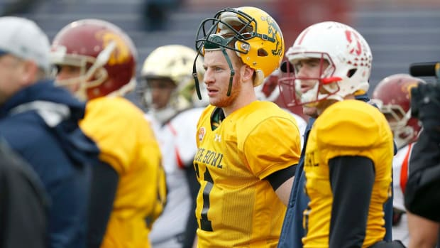 Carson Wentz out to prove himself at Senior Bowl IMAGE