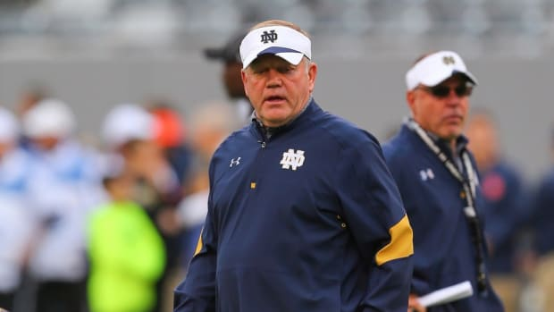 Notre Dame's Brian Kelly survived controversy by winning. Can he survive academic misconduct when he's losing?