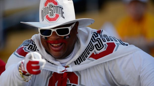 """Meet John """"Buck I Guy"""" Chubb: The lifelong Ohio State superfan with a tricked out Chevy Impala"""