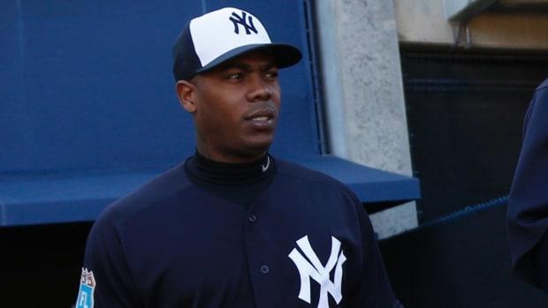 New York Yankees P Aroldis Chapman suspended thirty games - IMAGE