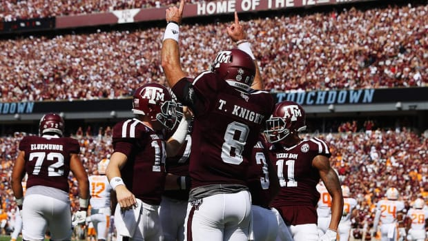 No. 8 Texas A&M holds off No. 9 Tennessee in double OT--IMAGE