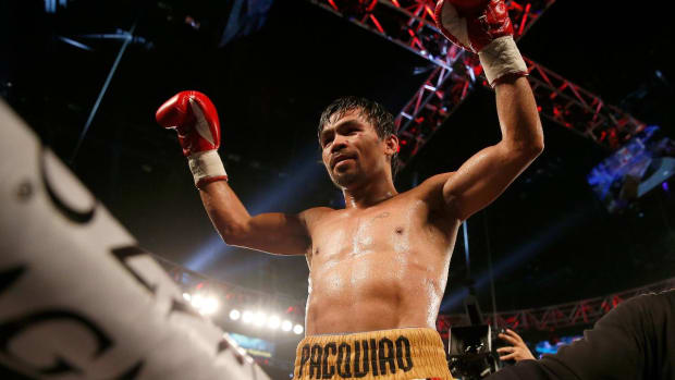Manny Pacquiao retires after defeating Timothy Bradley -- IMAGE