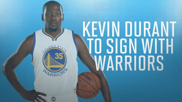 Kevin Durant agrees to two-year deal with Warriors worth $54 million -- IMAGE