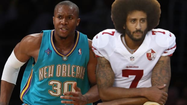 Warriors' David West protested anthem before Colin Kaepernick - IMAGE