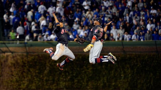 Indians spoil Chicago's first World Series game since 1945, win 1-0--IMAGE