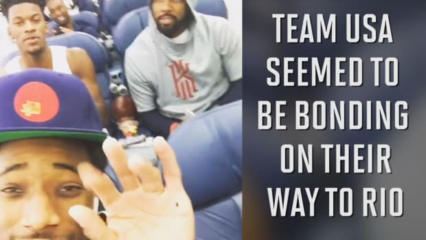 Carmelo Anthony: Not a fan of sing-alongs with Team USA --IMAGE