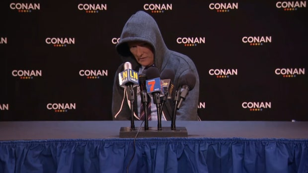 Watch: Conan O'Brien makes fun of Cam Newton's press conference - IMAGE