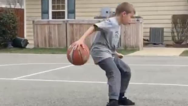 Watch: Kid reenacts Steph Curry's dribble moves with amazing accuracy--IMAGE