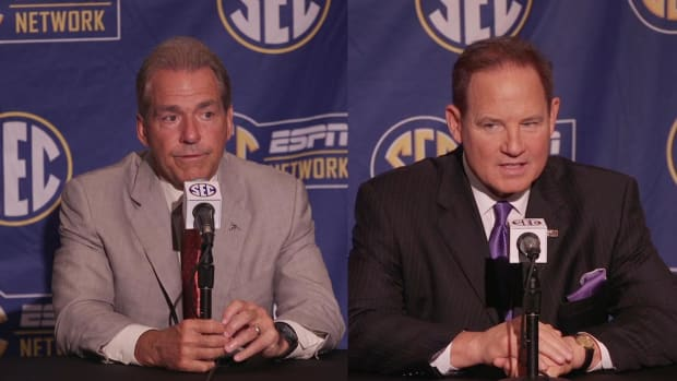 Les Miles, Nick Saban spat sparks all-time SEC quote - IMAGE
