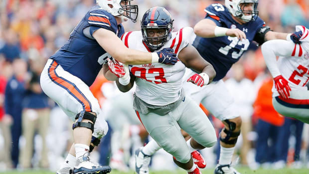 Ole Miss's D.J. Jones predicts win over Alabama, talks juco path to SEC football and more
