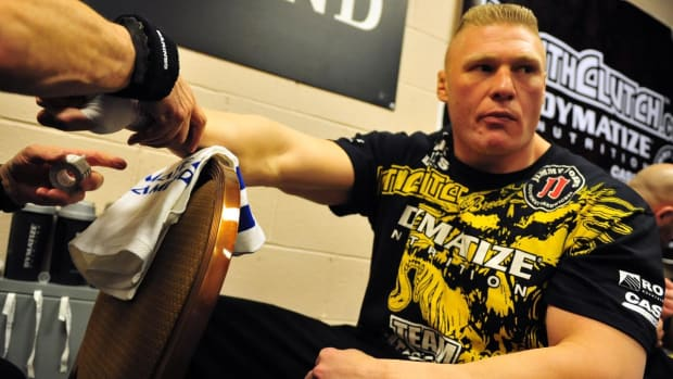 Report: Current WWE star Brock Lesnar is finalizing a deal to fight at UFC 200--IMAGE