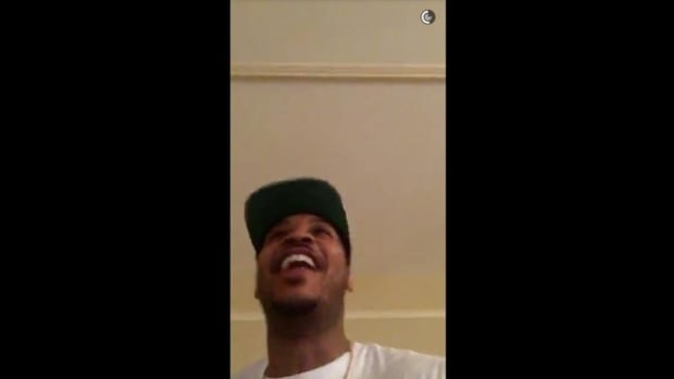 Watch: Joyous Carmelo Anthony celebrates Syracuse win in Snapchat story