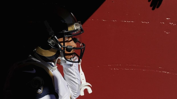 Rams Stedman Bailey running routes five months after shooting--IMAGE