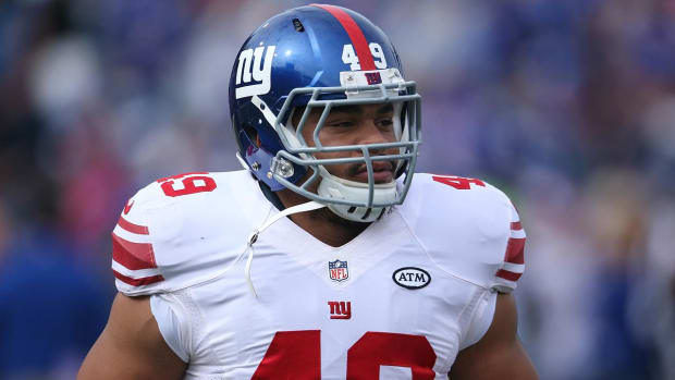 Giants fullback Nikita Whitlock says burglars left racist messages at home - IMAGE