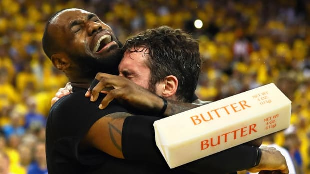 Mustard Minute: Cleveland Cavaliers enshrined in butter because butter sculpting is a thing IMG