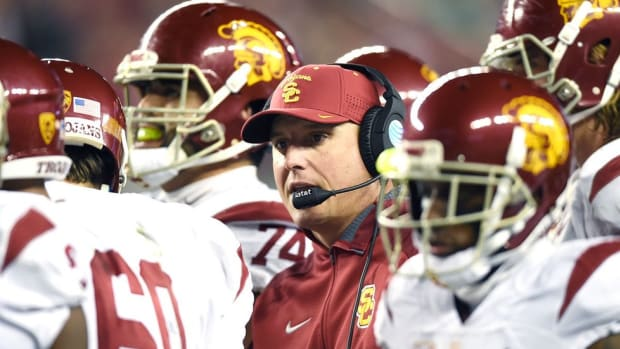 Drama to dependability: USC's Clay Helton discusses his mindset in his first year as the Trojans' full-time coach