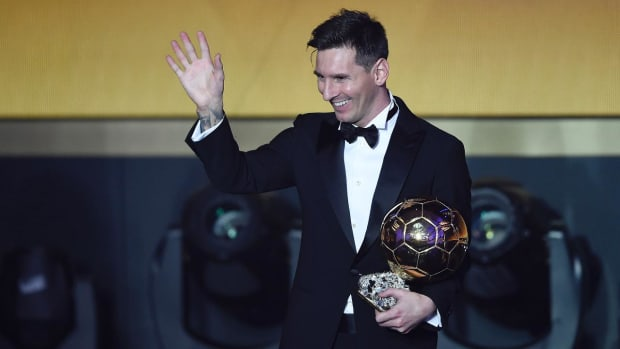 Lionel Messi wins Ballon d'Or for fifth time - IMAGE