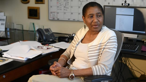 "Michele Roberts: ""I wouldn't mind routing the league."" IMG"