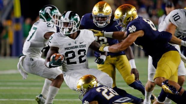 No. 12 Michigan State defeats No. 18 Notre Dame 36-28 - IMAGE