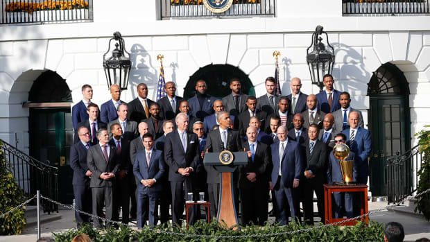 The Cleveland Cavaliers visit the White House - IMAGE