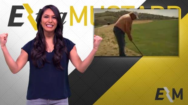 Mustard Minute: Watch John Daly golf shirtless, shoeless to celebrate his 50th birthday IMG