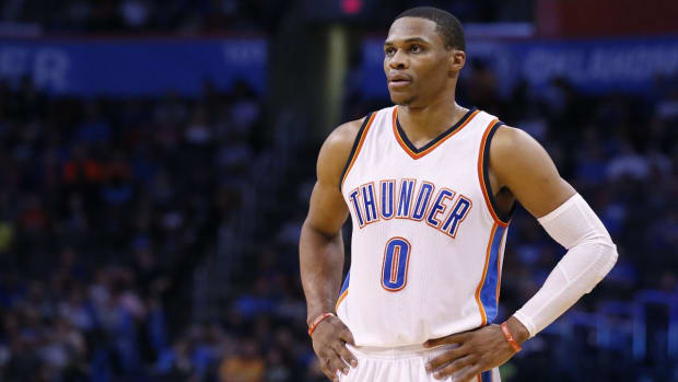 Russell Westbrook dresses as Joe Dirt for Halloween--IMAGE