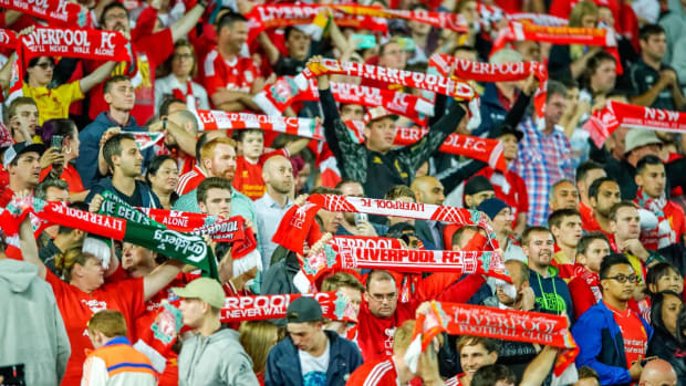 Liverpool fans stage walkout over ticket prices - IMAGE