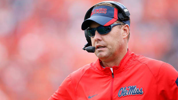 Hugh Freeze responds to Harbaugh's opposition of satellite camp ban - IMAGE