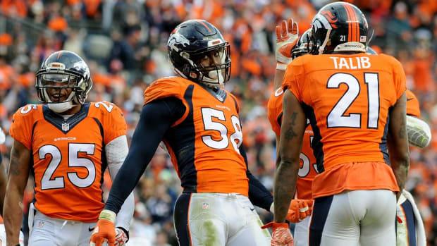 Broncos' defense has tough task against Carolina's offensive front IMAGE