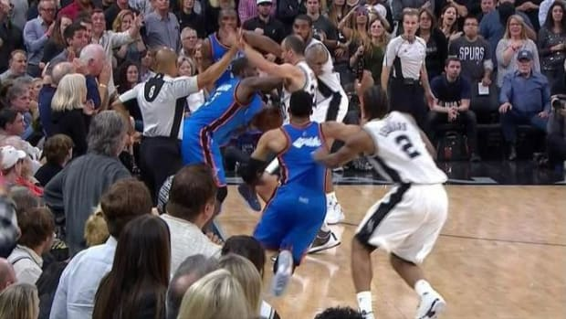 NBA admits to five missed calls at the end of Thunder-Spurs Game 2 -- IMAGE