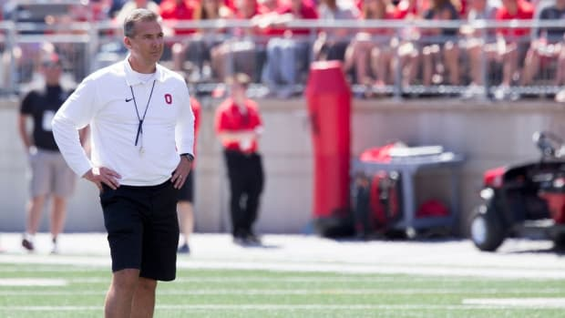 Getting Off on the Right Foot: Ohio State's Urban Meyer, J.T. Barrett discuss the first day of fall camp