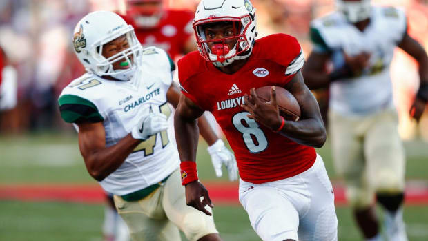 Louisville QB Lamar Jackson gets his best chance to knock off a longtime rival on Saturday: Florida State's Dalvin Cook