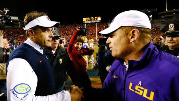 Why are three top coaches on the hot seat? Explaining the SEC West's critical coaching mass; Punt, Pass & Pork