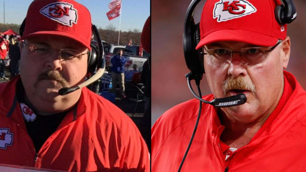 Fake Andy Reid hijacks Chiefs press conference at training camp -- IMAGE