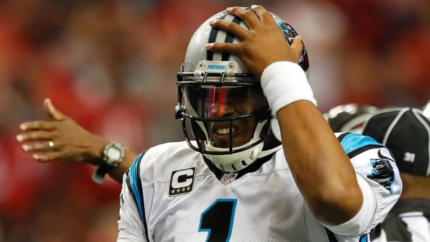 Concussed Cam Newton misses MNF, seen riding scooter without helmet - IMAGE