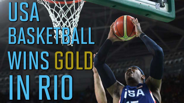 U.S. men's basketball team routs Serbia for third straight gold medal -- IMAGE