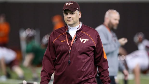 'You don't replace him': Virginia Tech's Justin Fuente on following Frank Beamer and Paxton Lynch's NFL future