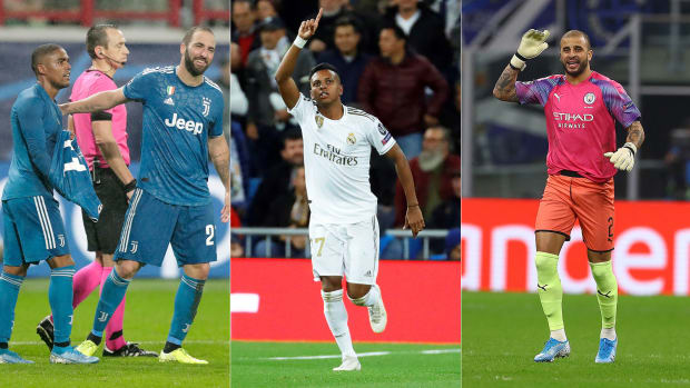 Juventus's Douglas Costa, Real Madrid's Rodrygo and Man City's Kyle Walker stepped up in Champions League