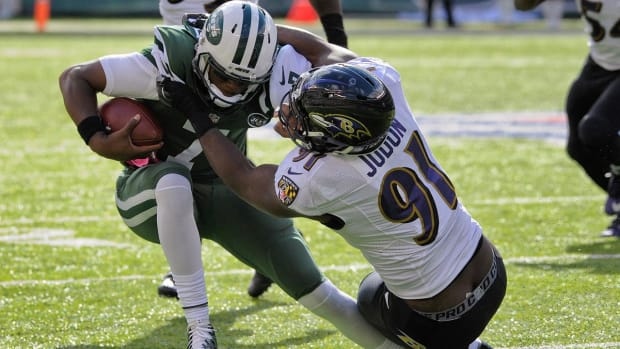 Jets QB Geno Smith out for season with torn ACL - IMAGE