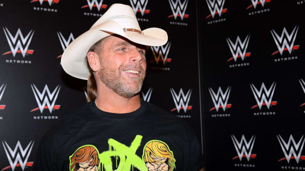 Shawn Michaels attends Penguins Game 5 to watch HBK line--IMAGE