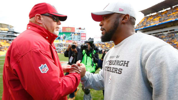 Bruce Arians felt betrayed by Steelers' Mike Tomlin -- IMAGE