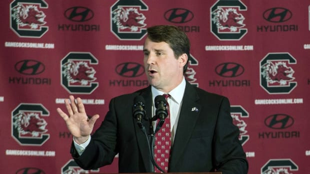 South Carolina coach Will Muschamp on his second chance: I've been knocked down before and will get back up again