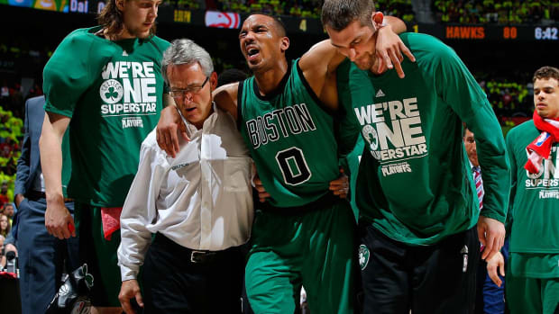 Celtics' Avery Bradley likely out for rest of series vs. Hawks - IMAGE