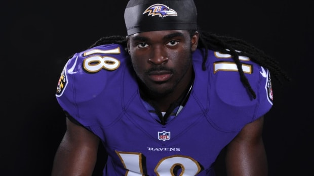 Report: Ravens WR Breshad Perriman suffers partially torn ACL in left knee --IMAGE