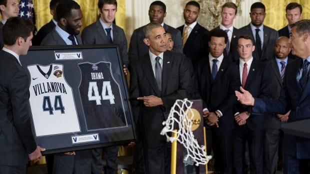 NCAA champion Villanova honored at the White House--IMAGE