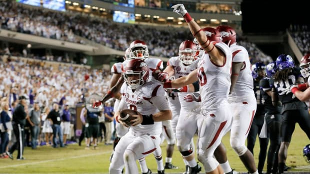 Arkansas downs No. 15 TCU in double overtime -- IMAGE