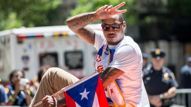 Carmelo Anthony is calling the shots with his team--IMAGE